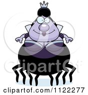 Cartoon Of A Chubby Spider Queen Royalty Free Vector Clipart by Cory Thoman
