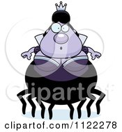 Cartoon Of A Surprised Chubby Spider Queen Royalty Free Vector Clipart by Cory Thoman