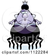 Cartoon Of A Depressed Chubby Spider Queen Royalty Free Vector Clipart by Cory Thoman