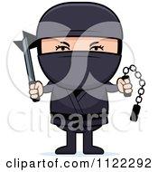 Ninja Boy With Weapons