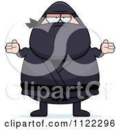 Careless Shrugging Chubby Ninja Man