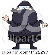Waving Chubby Ninja Man