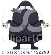 Cartoon Of A Chubby Ninja Man Royalty Free Vector Clipart by Cory Thoman