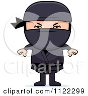 Cartoon Of A Ninja Boy Royalty Free Vector Clipart by Cory Thoman