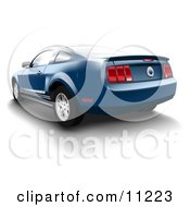 Poster, Art Print Of Vista Blue Ford Mustang Sports Car