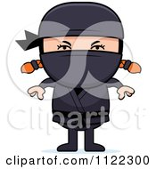 Cartoon Of A Red Haired Ninja Girl Royalty Free Vector Clipart by Cory Thoman