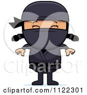 Cartoon Of A Happy Asian Ninja Girl Royalty Free Vector Clipart by Cory Thoman