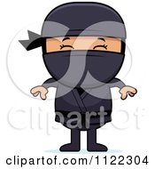 Cartoon Of A Happy Asian Ninja Boy Royalty Free Vector Clipart by Cory Thoman
