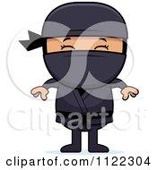 Happy Asian Ninja Boy