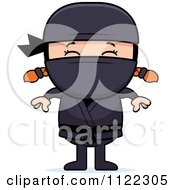 Cartoon Of A Happy Red Haired Ninja Girl Royalty Free Vector Clipart by Cory Thoman