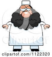 Cartoon Of A Depressed Chubby Muslim Man Royalty Free Vector Clipart by Cory Thoman