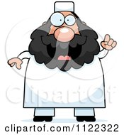 Cartoon Of A Chubby Muslim Man With An Idea Royalty Free Vector Clipart by Cory Thoman