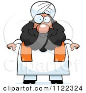 Cartoon Of A Chubby Muslim Sikh Man Royalty Free Vector Clipart