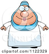 Cartoon Of A Chubby Muslim Woman Royalty Free Vector Clipart