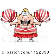 Cartoon Of A Chubby Blond Cheerleader Royalty Free Vector Clipart by Cory Thoman