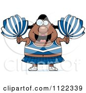 Cartoon Of A Chubby Black Cheerleader Royalty Free Vector Clipart