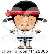 Happy Asian Martial Arts Karate Girl