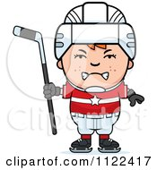 Cartoon Of An Angry Red Haired Hockey Boy Royalty Free Vector Clipart by Cory Thoman