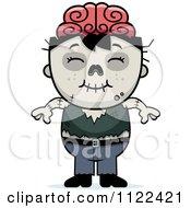 Cartoon Of A Happy Zombie Boy Royalty Free Vector Clipart