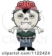 Cartoon Of An Angry Zombie Boy Royalty Free Vector Clipart