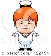 Cartoon Of An Angry Red Haired Sailor Boy Royalty Free Vector Clipart by Cory Thoman