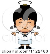 Cartoon Of A Happy Asian Sailor Girl Royalty Free Vector Clipart by Cory Thoman