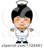 Cartoon Of A Happy Asian Sailor Boy Royalty Free Vector Clipart by Cory Thoman