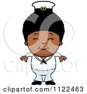 Cartoon Of A Happy Black Sailor Boy Royalty Free Vector Clipart by Cory Thoman