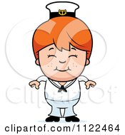 Cartoon Of A Happy Red Haired Sailor Boy Royalty Free Vector Clipart by Cory Thoman