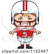 Cartoon Of An Angry Red Haired Football Player Boy Royalty Free Vector Clipart by Cory Thoman