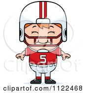 Cartoon Of A Happy Red Haired Football Player Boy Royalty Free Vector Clipart