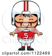 Cartoon Of A Happy Asian Football Player Boy Royalty Free Vector Clipart