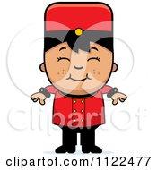 Asian Bellhop Hotel Boy Smiling