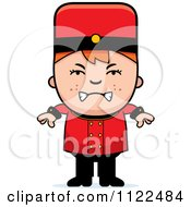 Cartoon Of A Mad Red Haired Bellhop Hotel Boy Royalty Free Vector Clipart by Cory Thoman