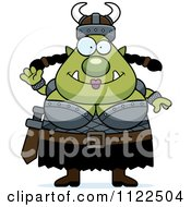 Cartoon Of A Chubby Ogre Woman Royalty Free Vector Clipart