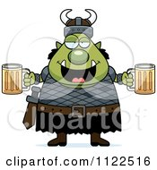 Chubby Ogre Man With Beer