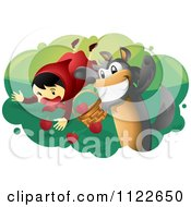 The Bad Wolf Attacking Little Red Riding Hood