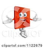 Clipart Of A Happy Book Mascot Royalty Free Vector Illustration