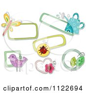 Cartoon Of Nature Tags Royalty Free Vector Clipart by BNP Design Studio