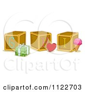 Cartoon Of Alphabet Letter Abc Blocks G H And I Royalty Free Vector Clipart