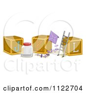 Cartoon Of Alphabet Letter Abc Blocks J K And L Royalty Free Vector Clipart