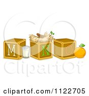 Cartoon Of Alphabet Letter Abc Blocks M N And O Royalty Free Vector Clipart by BNP Design Studio