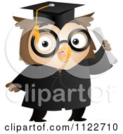 Cartoon Of A Graduate Owl Holding A Diploma Royalty Free Vector Clipart