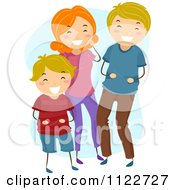 Cartoon Of A Happy Boy Laughing With His Parents Royalty Free Vector Clipart