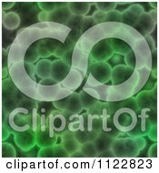 Clipart Of A Seamless Green Bacteria Background Pattern 7 Royalty Free CGI Illustration
