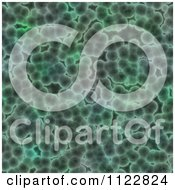 Clipart Of A Seamless Green Bacteria Background Pattern 8 Royalty Free CGI Illustration