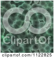 Clipart Of A Seamless Green Bacteria Background Pattern 9 Royalty Free CGI Illustration