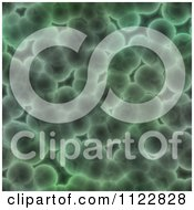 Clipart Of A Seamless Green Bacteria Background Pattern 12 Royalty Free CGI Illustration