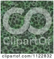 Clipart Of A Seamless Green Bacteria Background Pattern 20 Royalty Free CGI Illustration