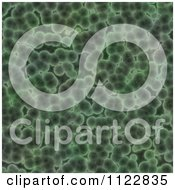 Clipart Of A Seamless Green Bacteria Background Pattern 23 Royalty Free CGI Illustration